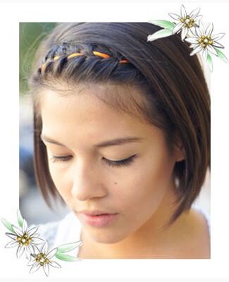 Frisuren flechten kurze haare