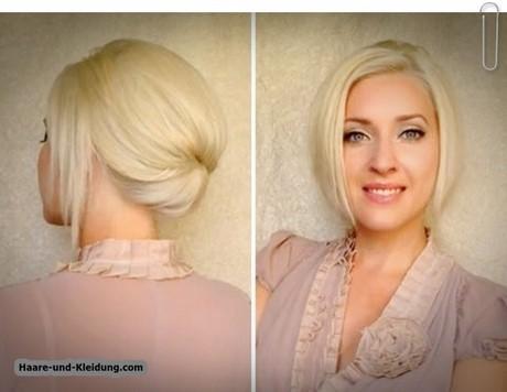 Hochsteckfrisur kinnlange haare