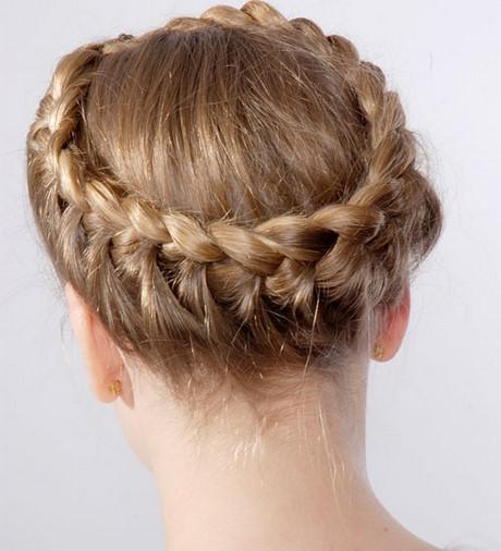 Kranz flechten haare