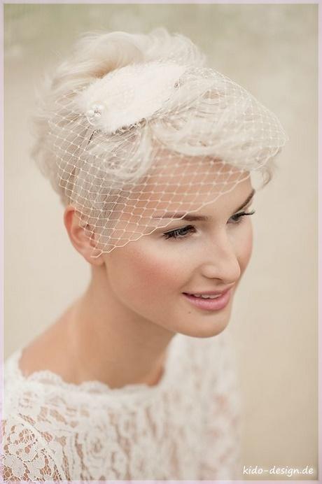 Braut kurze haare schleier