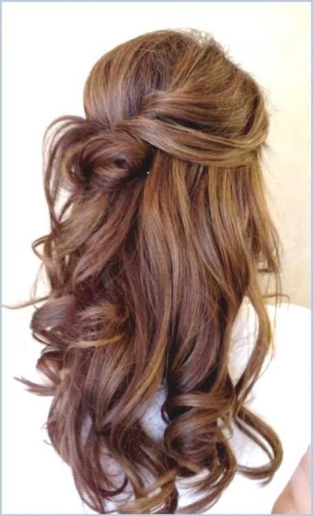 Halb hochsteckfrisuren lange haare