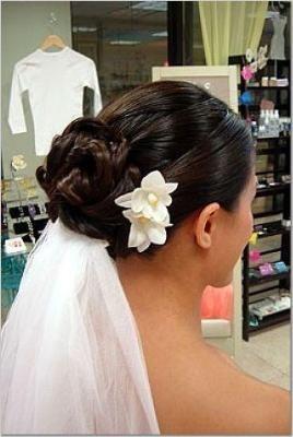 Hochzeitsfrisuren hochgesteckt mit schleier