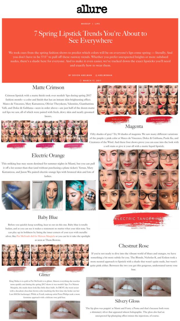 Spring Lip Trends