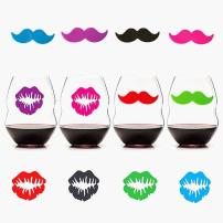 Lips & Stache, Silicone Drink Markers