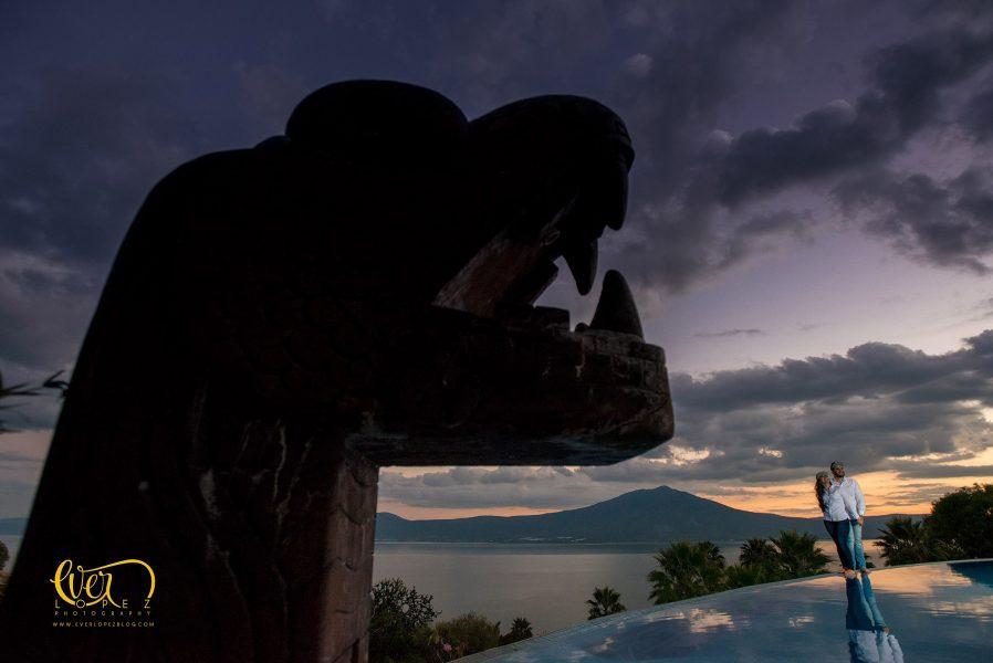 Monte Coxala sesion de fotos de novios Chapala
