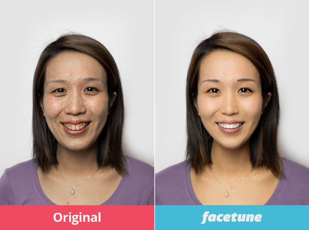 woman asian face editing editing software app facetune filter photoshop