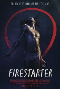 Firestarter documentary poster showing a Bangarra dancer