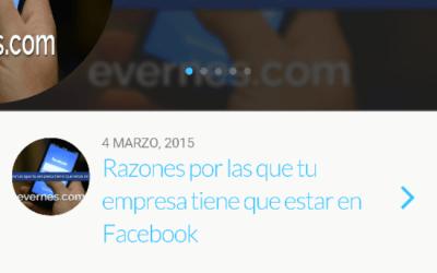 Evernes.com adaptado para pantalla móviles.