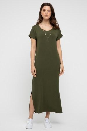 Elsie Dress Olive 1