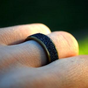Gold Steel Grip Ring