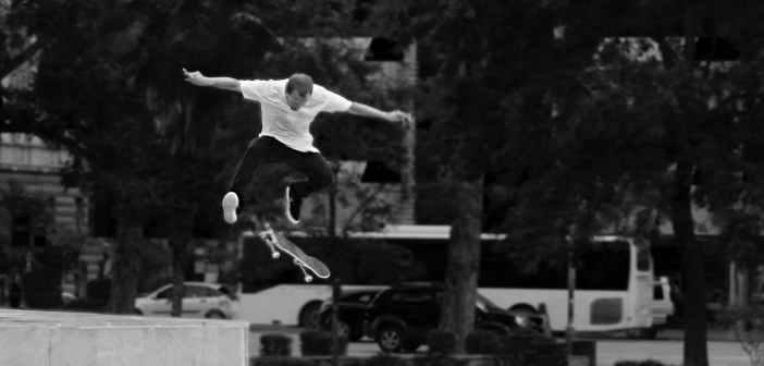 frontside flip, skateboard, trick