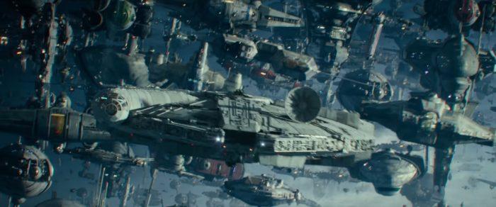 star wars, rise of skywalker, millenium falcon