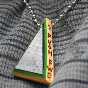 recycled skateboards, jewelry, necklace