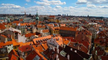 A view of Prague from the top of the Astronomical Clock Tower