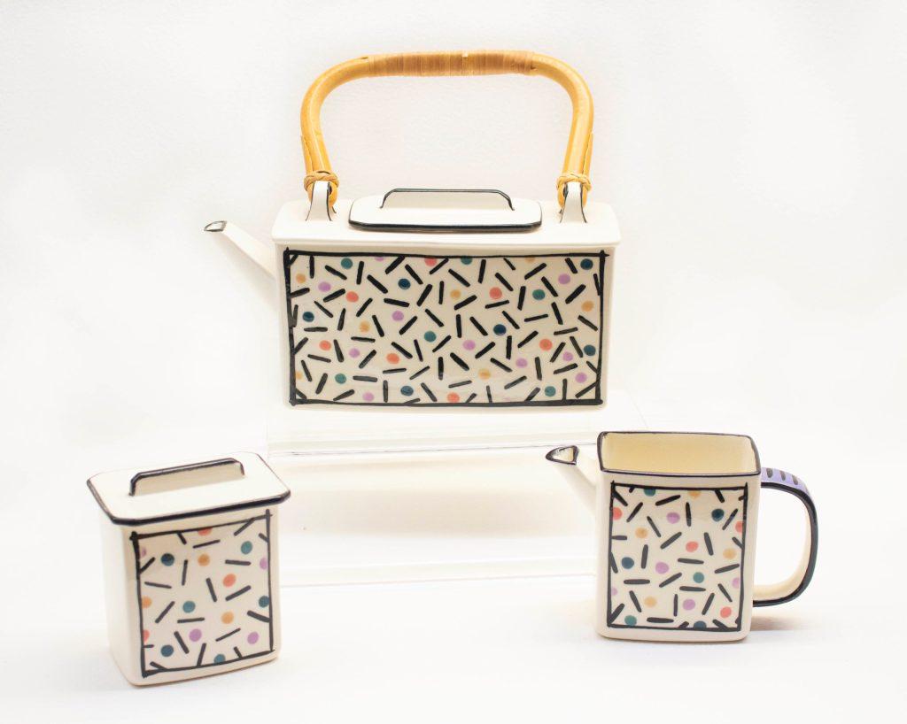 Confetti Tea Set by Dorothy Hafner