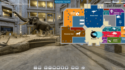Image: Screen shot Smithsonian Virtual Tour