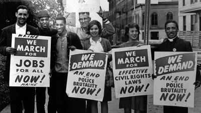 Image: Congressman John Lewis at a nonviolent protest