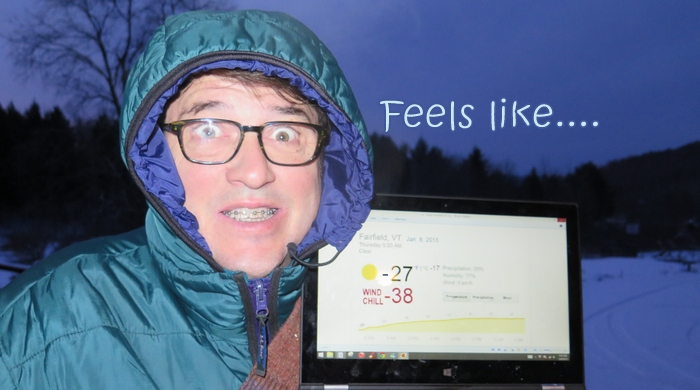 Image: wind chill and Dr. Chuck