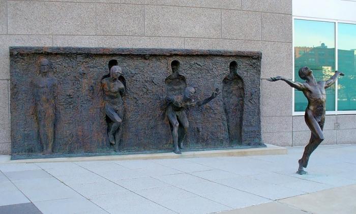 Image: Break Through From Your Mold By Zenos Frudakis, Philadelphia, Pennsylvania, USA who makes meaningful sculptures