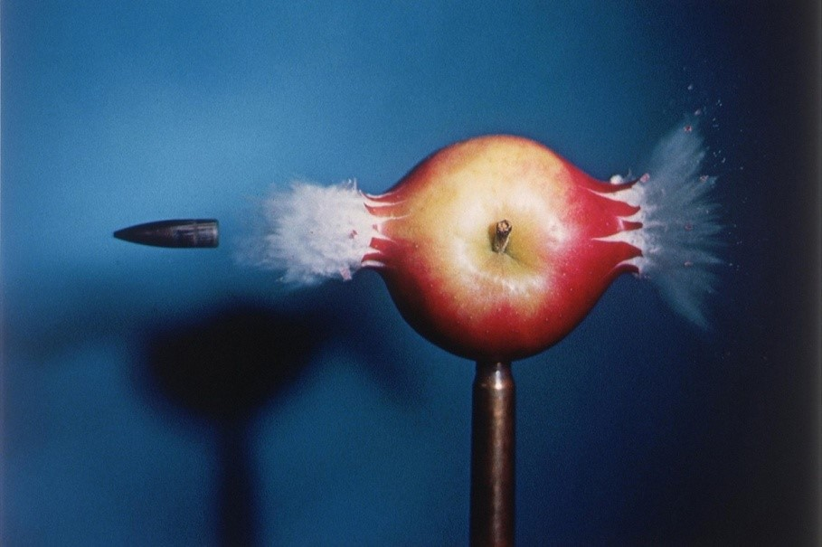 Image: Bullet through Apple