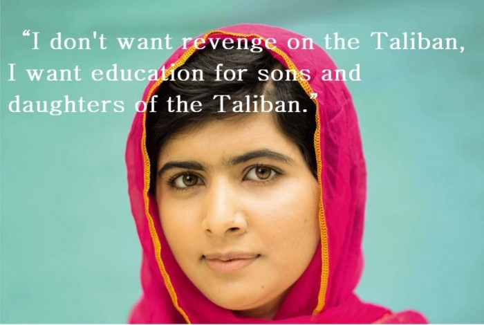 Image: Malala's hopes for the Taliban's children