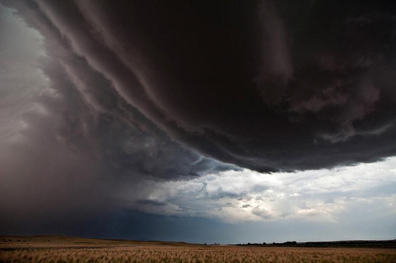 Image: Storm expanding in a cornucopia shape