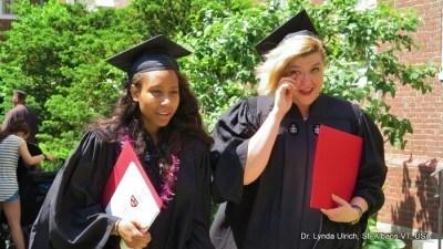 Image: Liesl Ulrich-Verderber in graduation attire