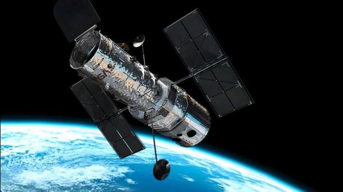 Image: Hubble telescope in space