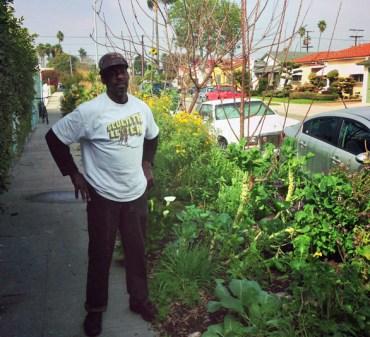 Image: Ron Finley at a streetside garden