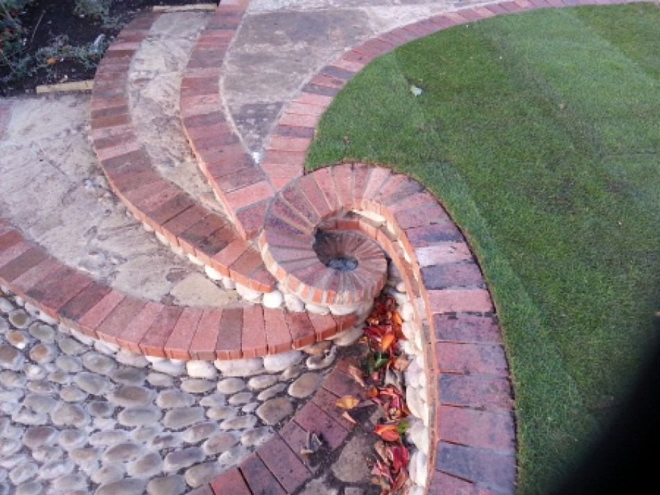 Image: Stone stairs converging in a spiral