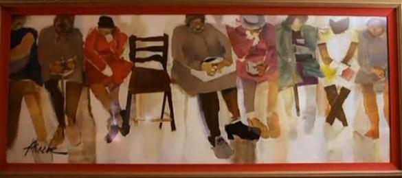 Image: Phoebe Beasley's painting called Sister Sookie's Funeral