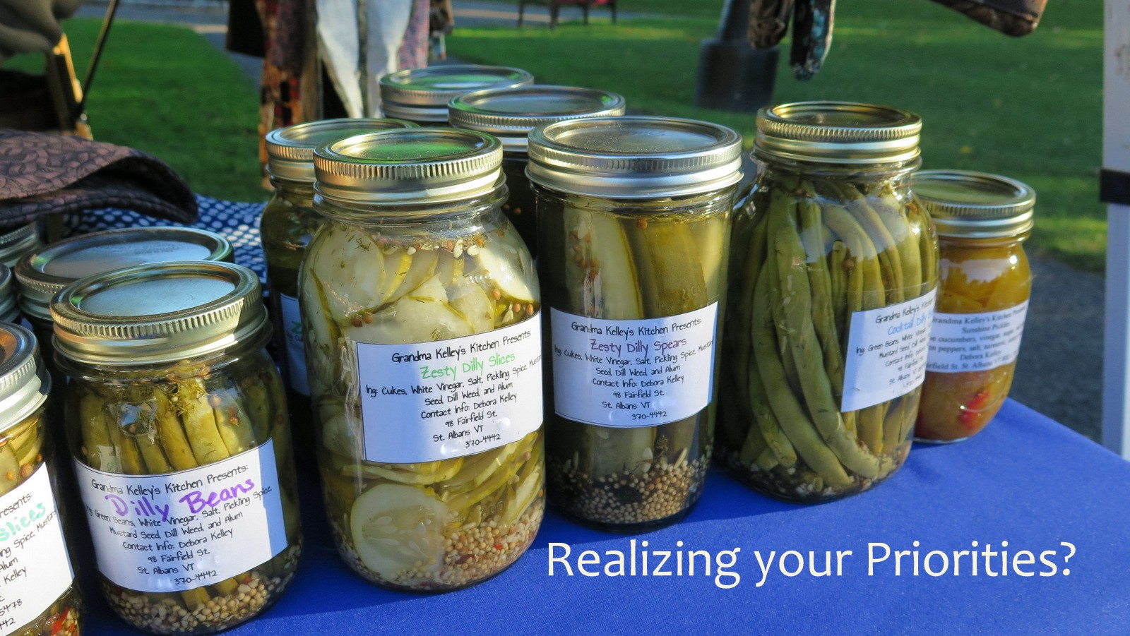 Image: Embrace the pickle jar philosophy for finding your priorities