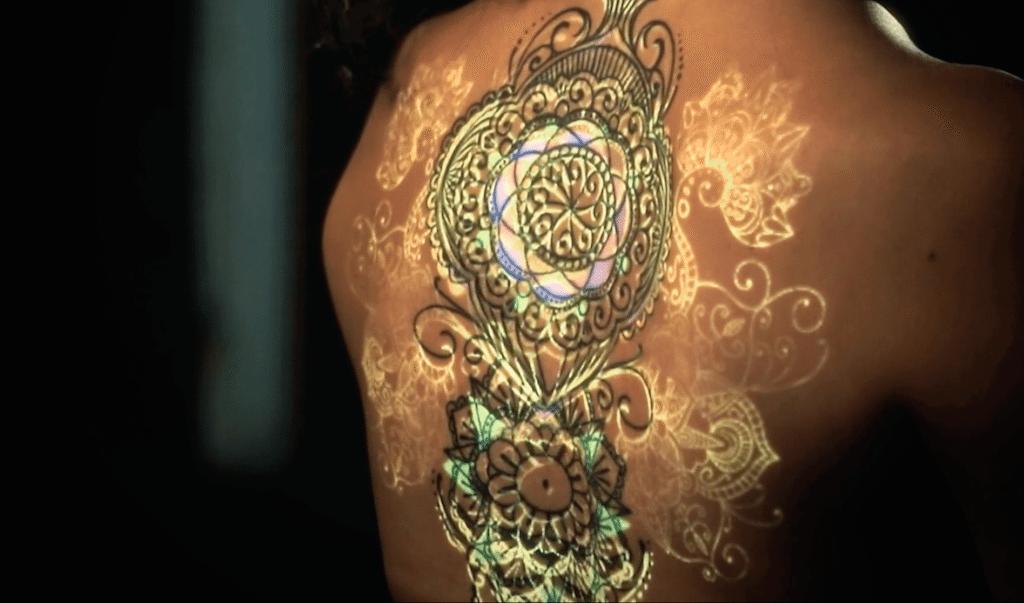Projection Art on Back Mandala