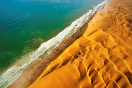 Image: Theo's Namib desert runs into the sea