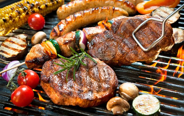 barbecuing with science: barbecuing meats and vegetables
