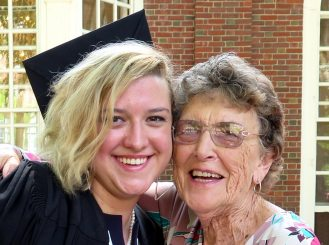 Image: Graduate with Grandparent
