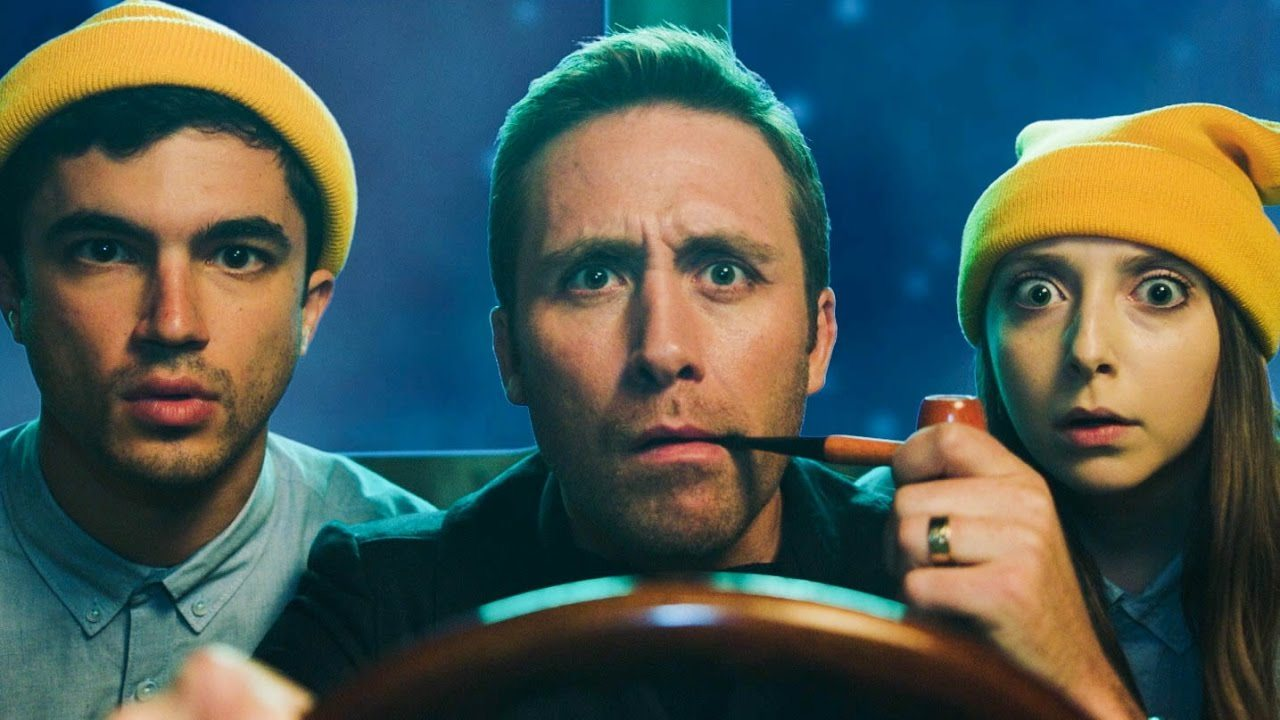 Image: The Aquatic World with Philippe Cousteau opening image of Cousteau at the helm of a Submarine