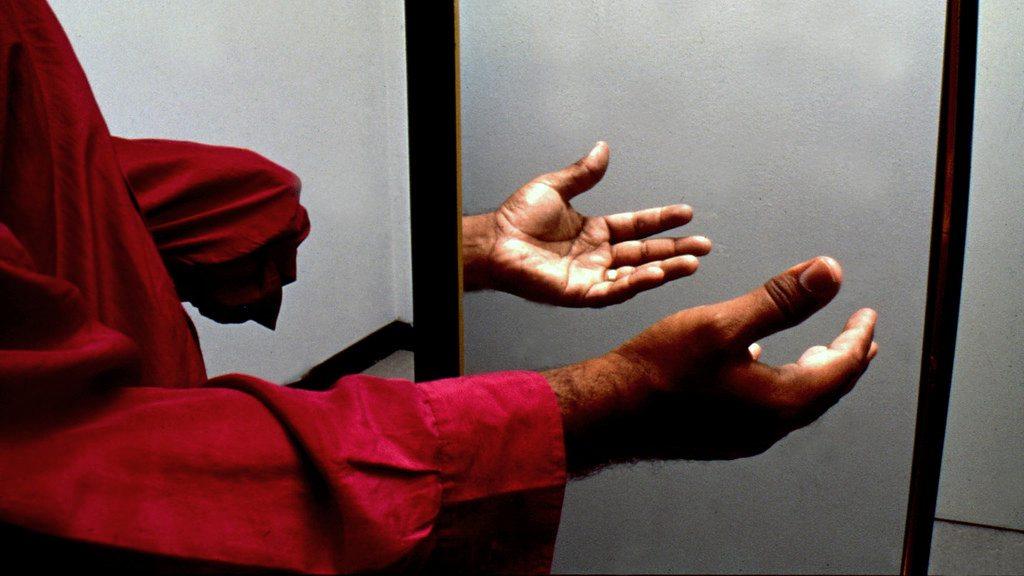 Image: Fantom limb in a mirror