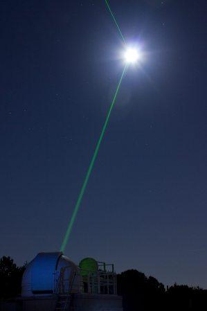 Image: Lunar laser show from a planetarium