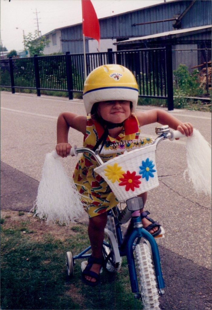 Image: Liesl, EWC's COO, on her very cool bike as a youngster