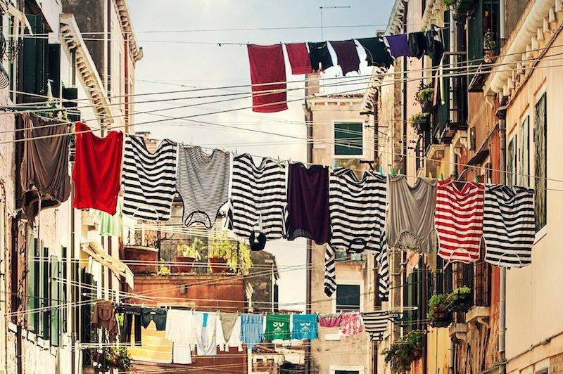 Image: Clothing hanging on clothes line