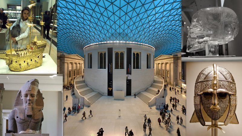 Image: A collage of the wonders of the British Museum