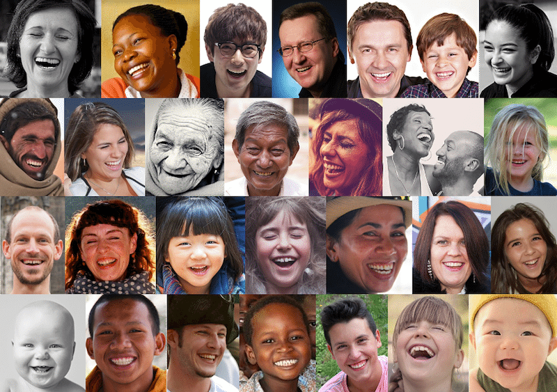 Image: A collage of diverse smiling faces