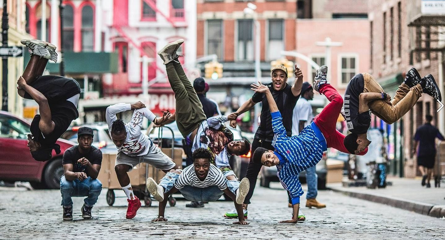 Image: WAFFLE NYC dancers in a city street