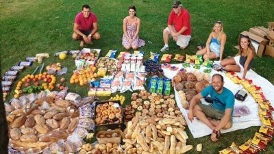 Image: A huge bounty of perfectly good food collected from dumpsters