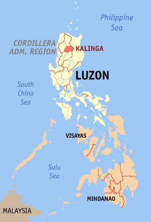 Image: Map of the Luzon province of the Philippine's