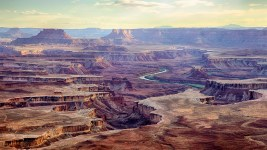 Image: Aerial view of the expansive Canyonland National Park
