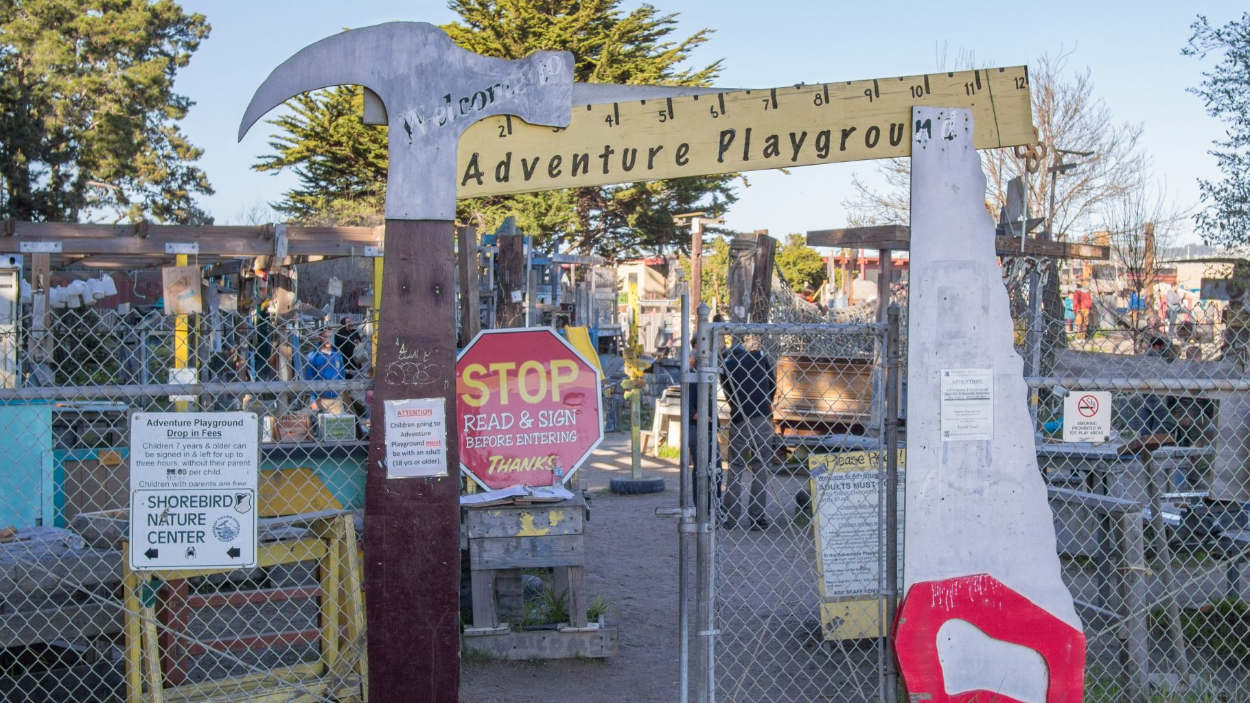Image: entrance to the Berkeley, California Adventure Playground!