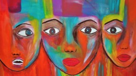Image: Painting of three black women's faces