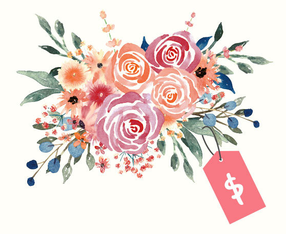watercolor florals for graphic